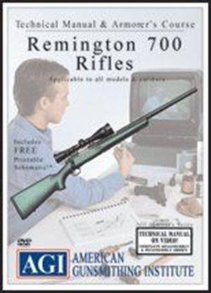 Remington 700 Rifles Technical Manual and Armorer's Course #1354 (DVD)