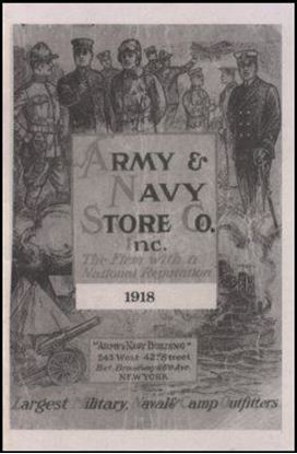 Army and Navy Store Co., Inc. 1918 Catalog